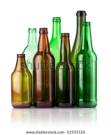empty color bottles - stock photo