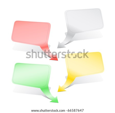 Empty color indexes with shadow for the text - stock photo