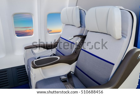 Empty comfortable business class airline seat & Reclining Seat Airplane Stock Images Royalty-Free Images ... islam-shia.org