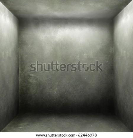 Empty concrete grunge interior - stock photo