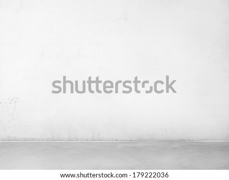 Empty concrete wall and floor. - stock photo