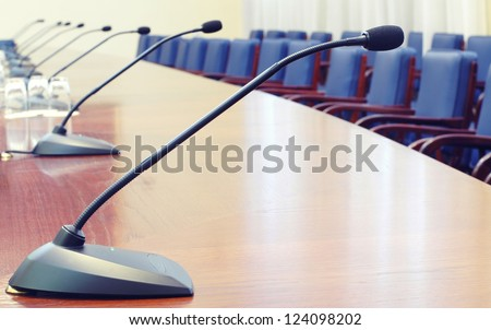 Empty conference room , starting the conference concept - stock photo