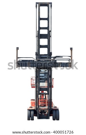 Empty Container Handlers isolated on a white background with clipping path - stock photo