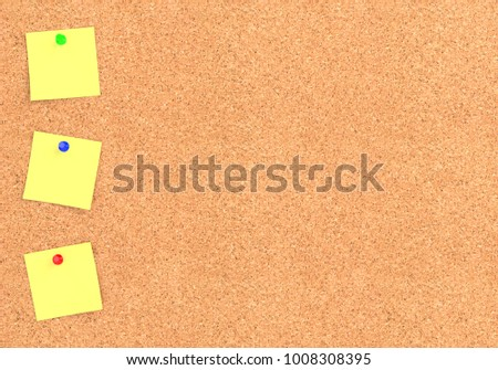 Empty Cork Board Noticeboard Yellow Sticky Stock Illustration ...