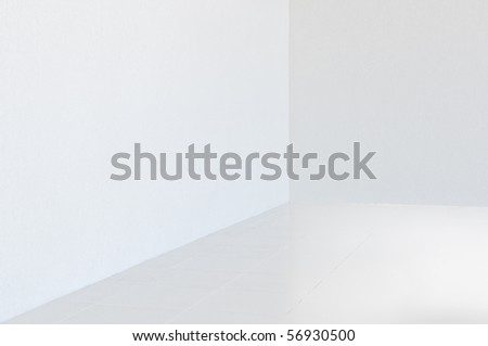 empty corner in the room - stock photo