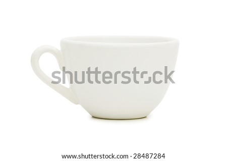 Empty cup isolated on the white background