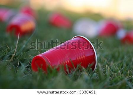 empty cups - stock photo
