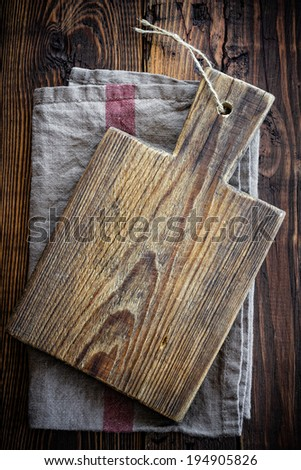 Empty cutting board - stock photo