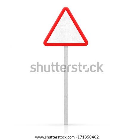 empty danger road signal - stock photo