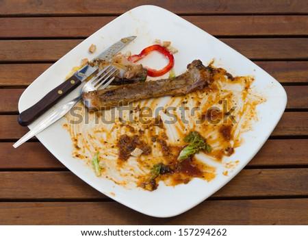empty dessert dish - stock photo