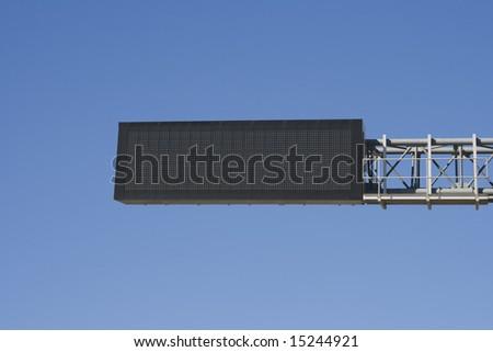 Empty digital road sign - stock photo