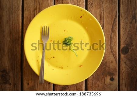 empty dish on the table - stock photo