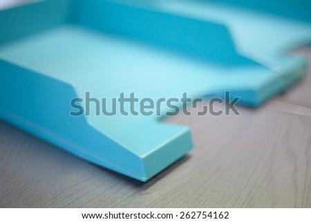 Empty document trays - stock photo