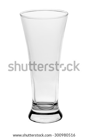 empty elegant tall glass on a white background