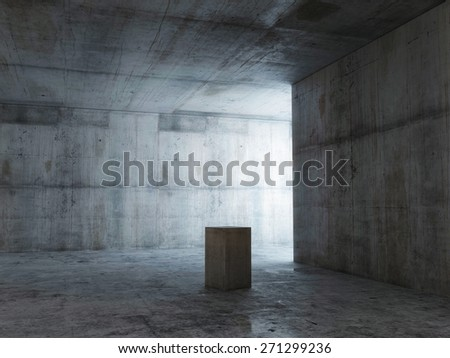 Empty expo space, 3d illustration - stock photo