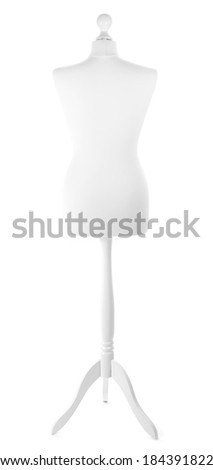 Empty female mannequin isolated on white - stock photo