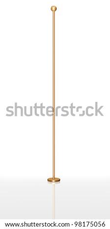 Empty flag pole - stock photo