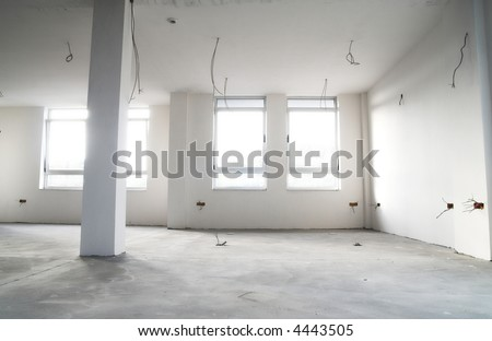 Empty flat in construction. Architecture concept - stock photo