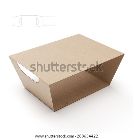 triangular box die cut template stock illustration 363169838 shutterstock. Black Bedroom Furniture Sets. Home Design Ideas