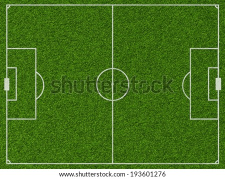Empty football field with markup. Top view. Sports Concept - stock photo