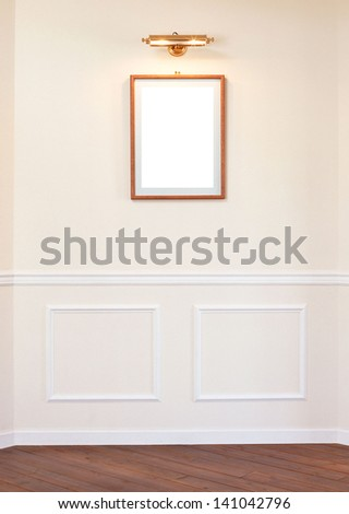 empty frame on a wall