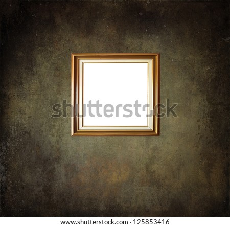 empty frame on grunge room wall - Empty Picture Frame