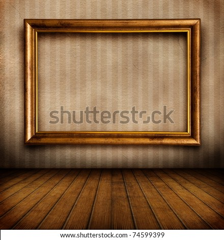 Empty frame on wall - stock photoEmpty Picture Frame On Wall