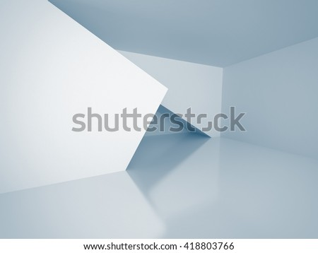 Empty Futuristic Room Architecture Background. 3d Render Illustration