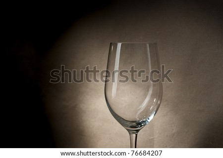 Empty glass - stock photo