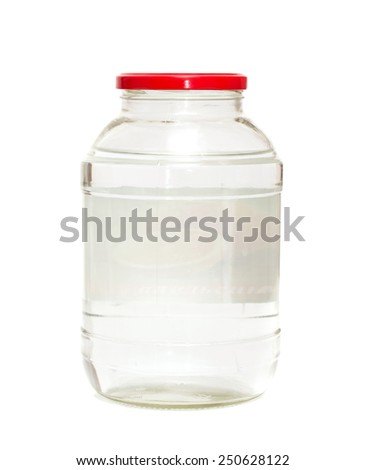 empty glass bank on a white background