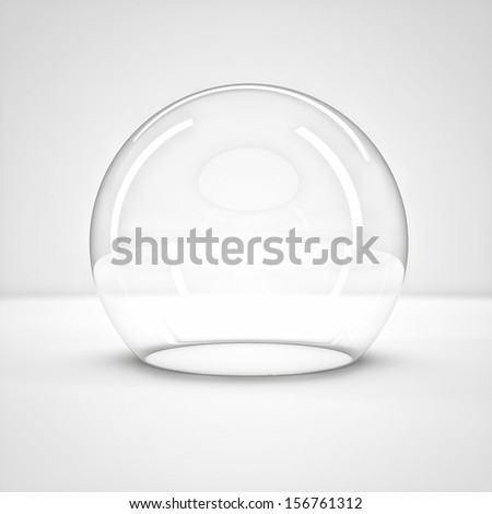 empty glass bell on a light background  - stock photo