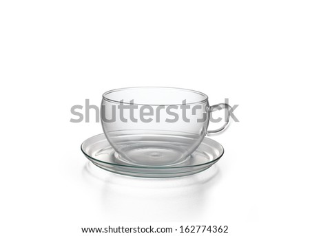 Empty Glass Cup - stock photo