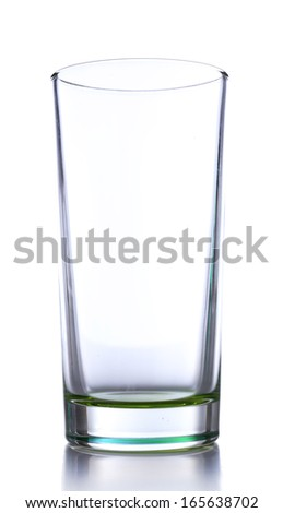 Empty glass, isolated on white