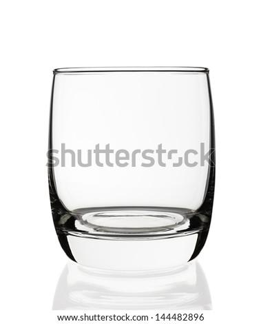 Empty glass isolated on white background - stock photo