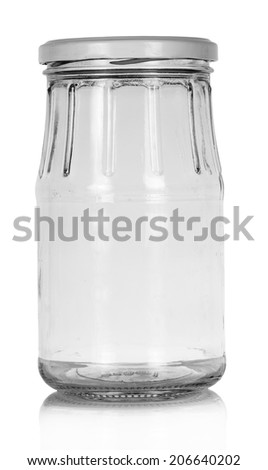 Empty glass jar - stock photo