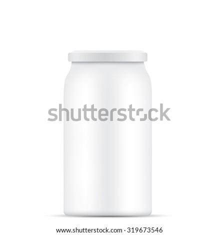 Empty glass jar - stock photo