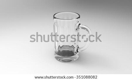 Empty Glass Of Beer - stock photo