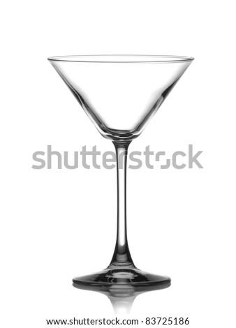 Empty glass of martini - stock photo