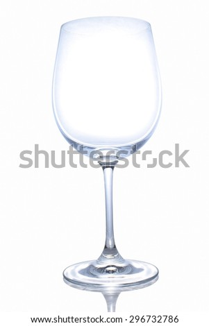 Empty glass of wine - stock photo
