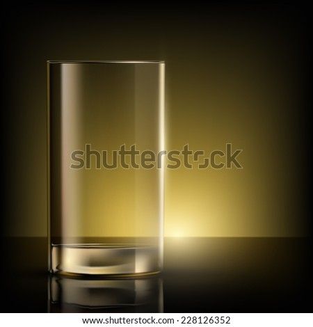 empty glass on the table - stock photo
