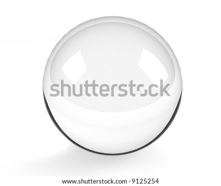 empty glass sphere on the white - stock photo