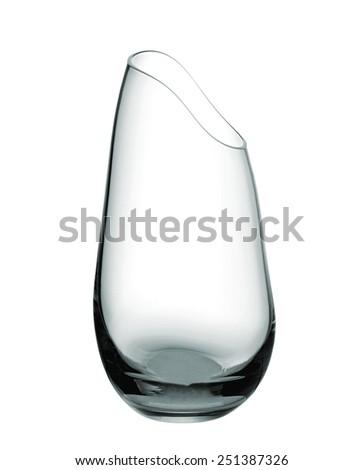 Empty glass vase - stock photo