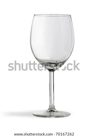 Empty glasses for red vine. Isolated on white, with clipping path. - stock photo