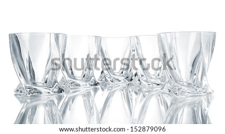 Empty glasses, isolated on white