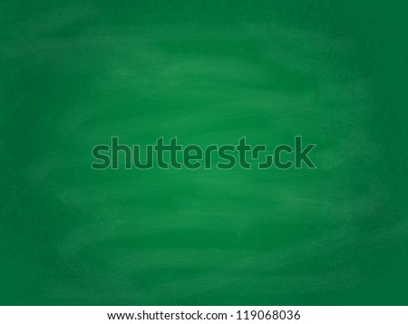 Empty green chalkboard background/texture illustration - stock photo