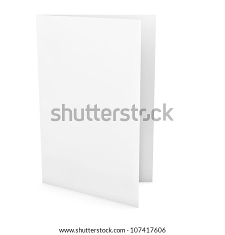 Empty greeting card isolated on white background - stock photo