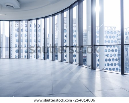 empty hall - stock photo