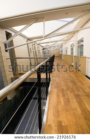 Empty hall in office building