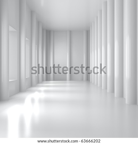 Empty Home Interior - 3d illustration - stock photo