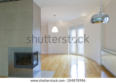 Empty home interior space
